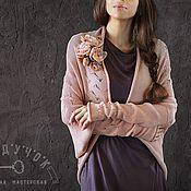"""Одежда ручной работы. Ярмарка Мастеров - ручная работа Кардиган """"Закаты в нежно-розовых тонах"""". Handmade."""