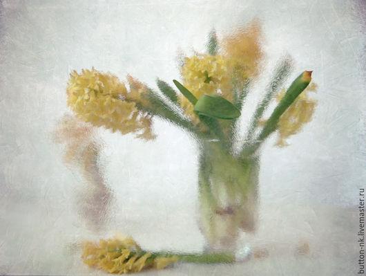 Фотокартины ручной работы. Ярмарка Мастеров - ручная работа. Купить Натюрморт фото, картина Акварельная нежность весны. Handmade. Желтый