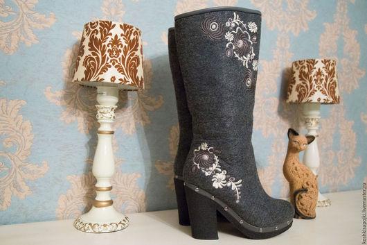 """Обувь ручной работы. Ярмарка Мастеров - ручная работа. Купить Валенки """"Казачки"""". Handmade. Дизайнерские валенки, валенки, зимние сапоги"""