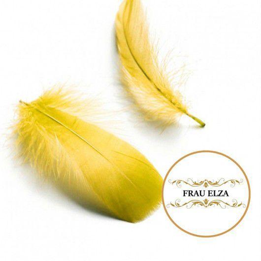 Другие виды рукоделия ручной работы. Ярмарка Мастеров - ручная работа. Купить Мягкие перья гуся 10 шт - желтые. Handmade.