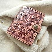 кошелёк портмоне из кожи кожаный кошелёк  женский кошелёк ручной работ