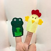 Dolls handmade. Livemaster - original item Finger trainer, finger toy, felt theater. Handmade.