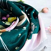 Аксессуары handmade. Livemaster - original item Green scarf based on Louis Vuitton