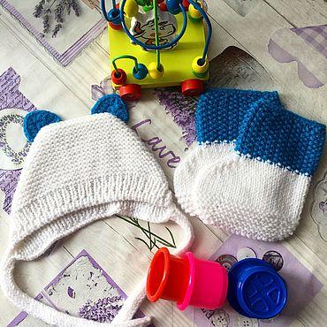 Товары для малышей ручной работы. Ярмарка Мастеров - ручная работа Чепчик и пинетки для малышей. Handmade.