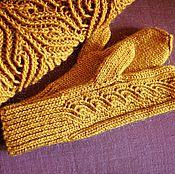 Аксессуары handmade. Livemaster - original item Set knitted Gold curl, bandage, scarf - snud and mittens. Edit page. Handmade.