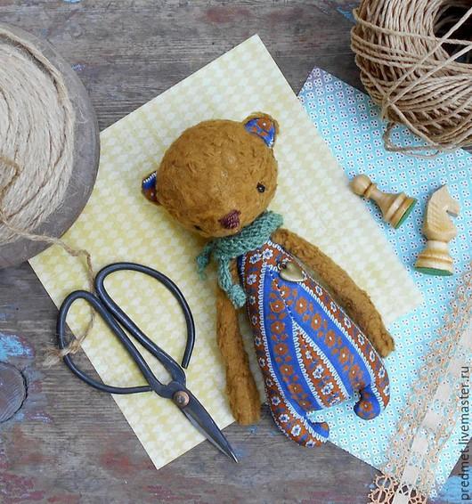 Мишки Тедди ручной работы. Ярмарка Мастеров - ручная работа. Купить Косолапый Патрик. Handmade. Коричневый, мишка мальчик, хлопок