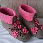 """Обувь ручной работы. Ярмарка Мастеров - ручная работа валенки домашние """"Сакура"""". Handmade."""