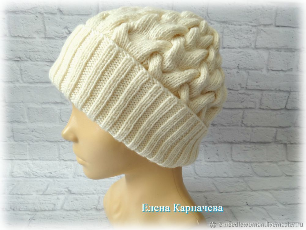 Knitted hat with Braid pattern, Caps, Omsk,  Фото №1