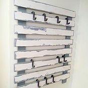 Для дома и интерьера handmade. Livemaster - original item Clothes hanger wall mounted with adjustable hooks