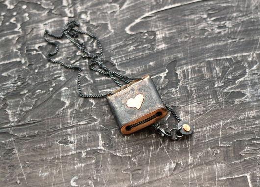 Кулоны, подвески ручной работы. Ярмарка Мастеров - ручная работа. Купить OLD LOVE STORY кулон (серебро, золото, алмаз). Handmade.