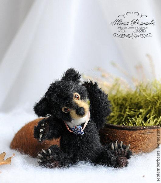 Мишки Тедди ручной работы. Ярмарка Мастеров - ручная работа. Купить гималайский медвежонок Машка, миниатюрный реалистичный мишка. Handmade.
