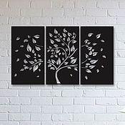 """Картины ручной работы. Ярмарка Мастеров - ручная работа Модульно панно """"Дерево с листьями"""". Handmade."""