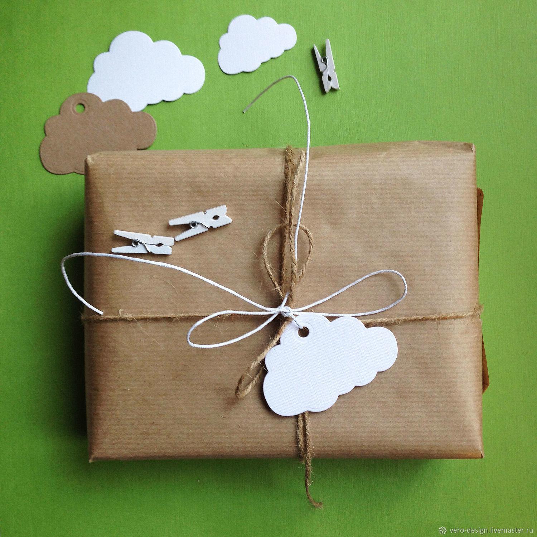 """Упаковка ручной работы. Ярмарка Мастеров - ручная работа. Купить Бирка для упаковки """" Облако"""" , 4 Х 6 см. Handmade."""