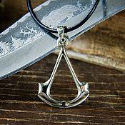 Украшения handmade. Livemaster - original item Pendant Assassin. Assassin`s creed. Assassin`s Creed. brass silver.. Handmade.