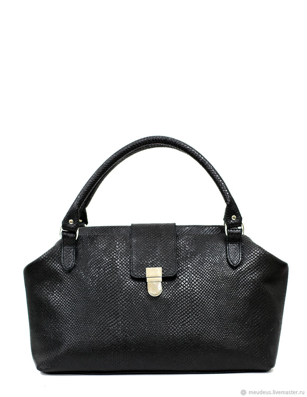 Bag bag ML made of black genuine leather art. 484, Classic Bag, Moscow,  Фото №1