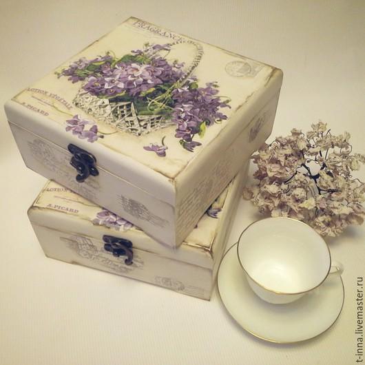 Корзины, коробы ручной работы. Ярмарка Мастеров - ручная работа. Купить Короб для чайных пакетиков Старые письма. Handmade. Белый