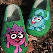 """Обувь ручной работы. Ярмарка Мастеров - ручная работа Детские тапочки  """"Смешарики"""". Handmade."""