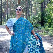 Аксессуары handmade. Livemaster - original item Stole felted Turquoise dream, scarf with wool prefelt. Handmade.