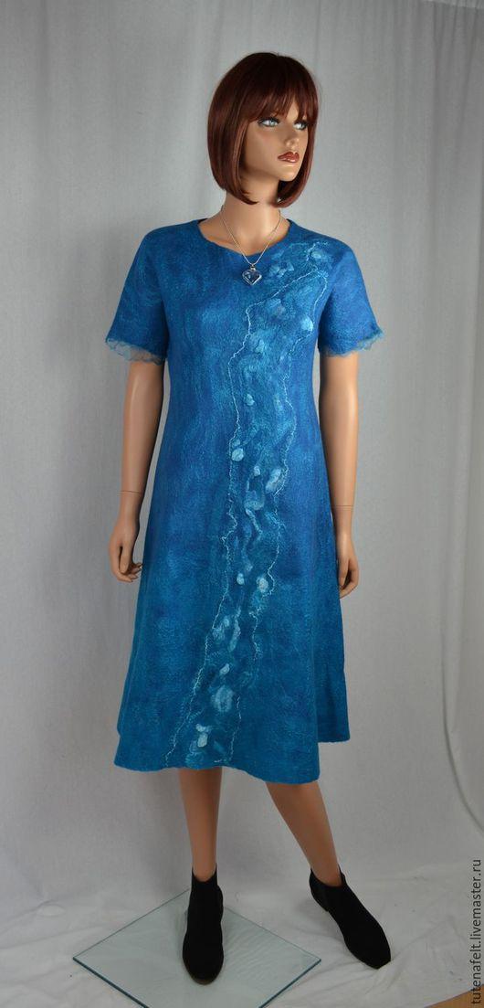 """Платья ручной работы. Ярмарка Мастеров - ручная работа. Купить Платье  валяное легкое """"Vous etes tres belle"""". Handmade."""