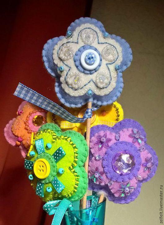 Детская ручной работы. Ярмарка Мастеров - ручная работа. Купить декор / саше из фетра - цветы. Handmade. Цветы