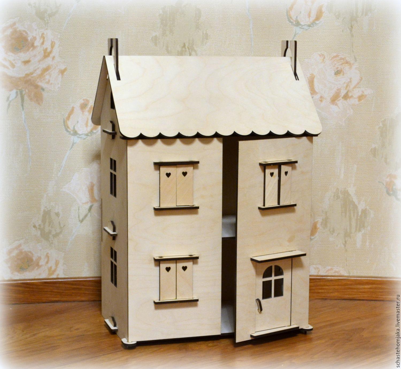 Как сделать домик для кукол своими руками легкий домик