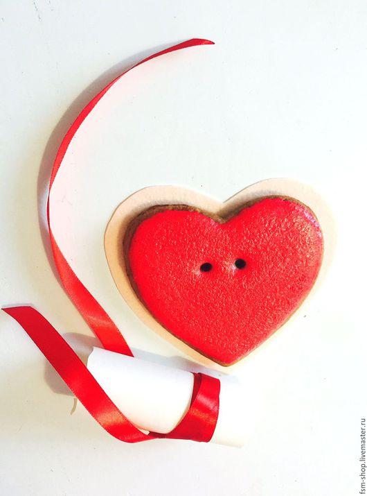 Подарки для влюбленных ручной работы. Ярмарка Мастеров - ручная работа. Купить Пряник сердце. Handmade. Ярко-красный, пряники