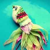 """Украшения ручной работы. Ярмарка Мастеров - ручная работа Брошь """"Райская птичка"""". Handmade."""