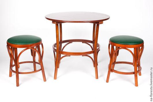 Венский обеденный стол: d75см, цвет - ольха
