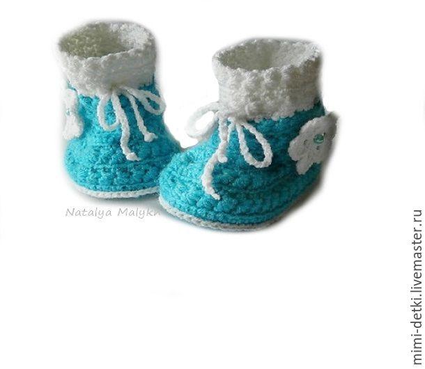 Для новорожденных, ручной работы. Ярмарка Мастеров - ручная работа. Купить Пинетки - ботиночки. Handmade. Пинетки, пинетки крючком, полушерсть
