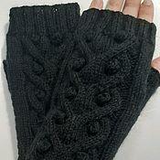 Аксессуары handmade. Livemaster - original item M 26 mitts, black. Handmade.