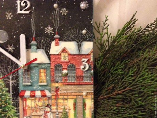 """Новый год 2017 ручной работы. Ярмарка Мастеров - ручная работа. Купить Новогодний набор ''Рождественская улочка""""-2. Handmade. Комбинированный"""