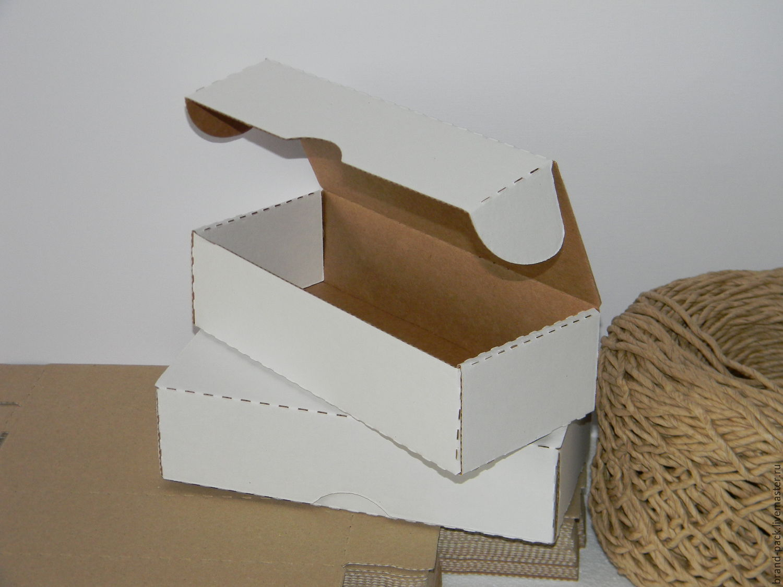 Коробка 21x9x5,5 см, белая микрогофра, Материалы для творчества, Нижний Новгород, Фото №1