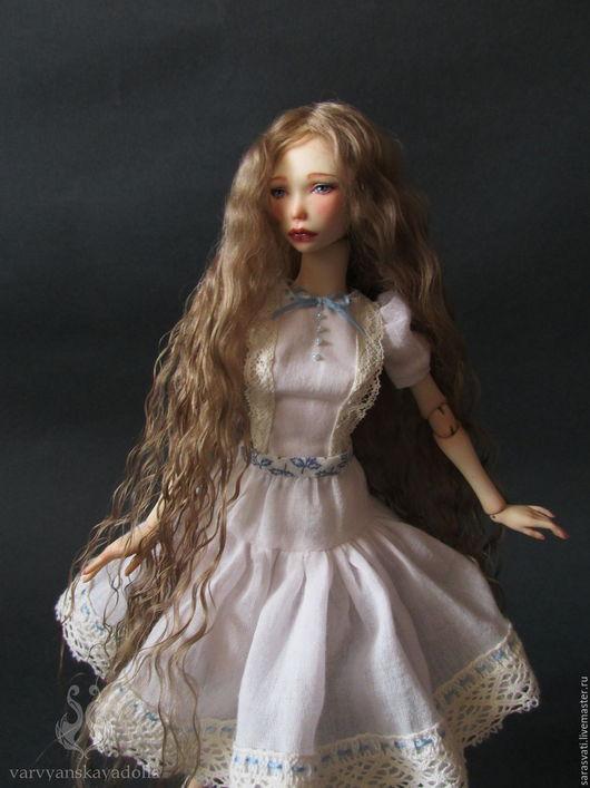 Коллекционные куклы ручной работы. Ярмарка Мастеров - ручная работа. Купить Шарнирная кукла Майя. Handmade. Голубой, doll
