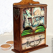 """Для дома и интерьера ручной работы. Ярмарка Мастеров - ручная работа """"Кошкин дом"""" Чайный буфет. Handmade."""