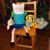 Мягкие игрушки ручной работы. Ярмарка Мастеров - ручная работа Adventure Time Финн и Джейк (Finn and Jake). Handmade.