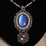 """Украшения ручной работы. Ярмарка Мастеров - ручная работа Кулон """"Blue lace"""". Handmade."""