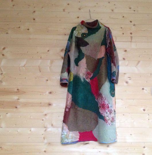 Платья ручной работы. Ярмарка Мастеров - ручная работа. Купить Валяное платье Mosaic. Handmade. Валяное платье, одежда для женщин