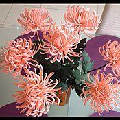 Цветы и флористика ручной работы. Ярмарка Мастеров - ручная работа Хризантемы из фоамирана. Handmade.