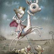 """Картины и панно ручной работы. Ярмарка Мастеров - ручная работа Картина маслом на холсте """"Алиса"""" 30/40см. Handmade."""