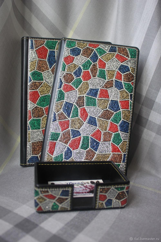 Diaries handmade. Livemaster - handmade. Buy Stationery set 'Gems'.Gems, gift boss woman