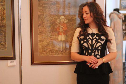"""Платья ручной работы. Ярмарка Мастеров - ручная работа. Купить Платье """"Вернисаж"""". Handmade. Бежевый, стильное платье"""