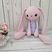 Куклы и игрушки handmade. Livemaster - original item Amigurumi pink Bunny girl for kids long-eared alien. Handmade.