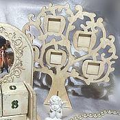 Сувениры и подарки ручной работы. Ярмарка Мастеров - ручная работа Винтажная рамочка для фотографий Дерево. Handmade.