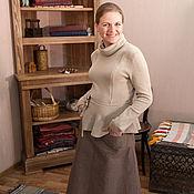 Одежда ручной работы. Ярмарка Мастеров - ручная работа Юбка лен с кармашками. Handmade.