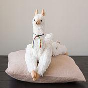 Куклы и игрушки handmade. Livemaster - original item Soft toy Alpaca handmade WHITE Llama. Handmade.