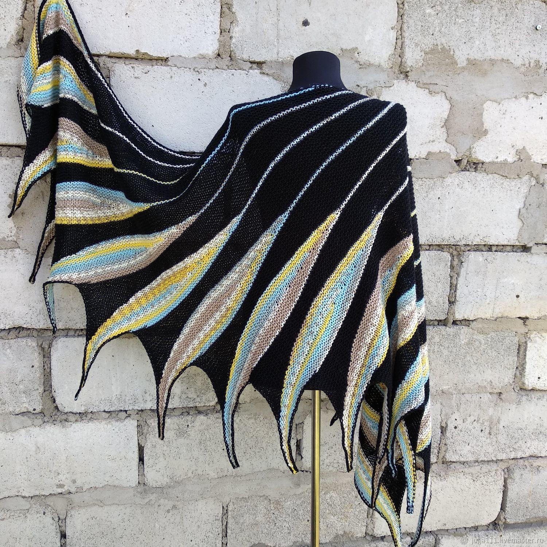 Large Knitted Scarf. Bright Mini Shawl, Shawls, Tula,  Фото №1