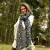 Аксессуары ручной работы. Ярмарка Мастеров - ручная работа Серый шарф «Спутница Ветра». Handmade.