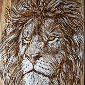 Для дома и интерьера handmade. Livemaster - original item Cutting Board oak. Leo. Handmade.