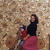 Свадебный салон ручной работы. Ярмарка Мастеров - ручная работа ФотоФОН из спилов дерева. Handmade.