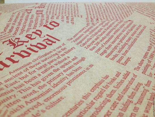 Упаковка ручной работы. Ярмарка Мастеров - ручная работа. Купить Крафт-бамага Газета красная. Handmade. Крафт бумага
